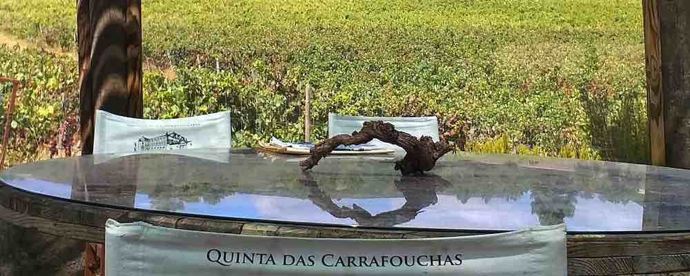 Quinta das Carrafouchas, table, Lisbon wine Region